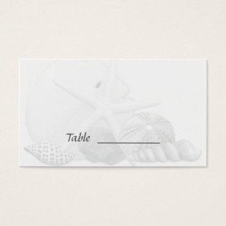 Beach Wedding Seashell Escort Seating Cards