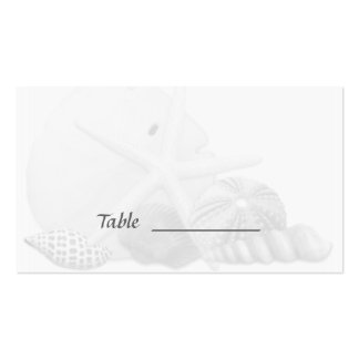Beach Wedding Seashell Escort Seating Cards Pack Of Standard Business Cards