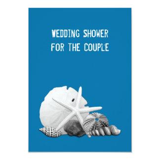 Beach Wedding Shower Seashell Photos Invitations