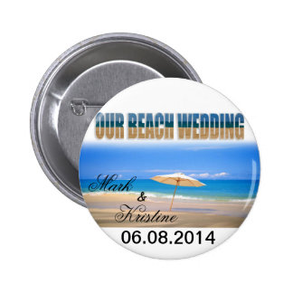 Beach Wedding Souvenirs and Giveaways 6 Cm Round Badge
