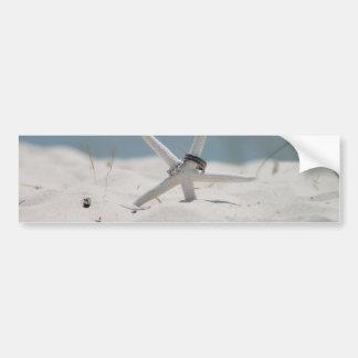 Beach Wedding Starfish Bumper Sticker