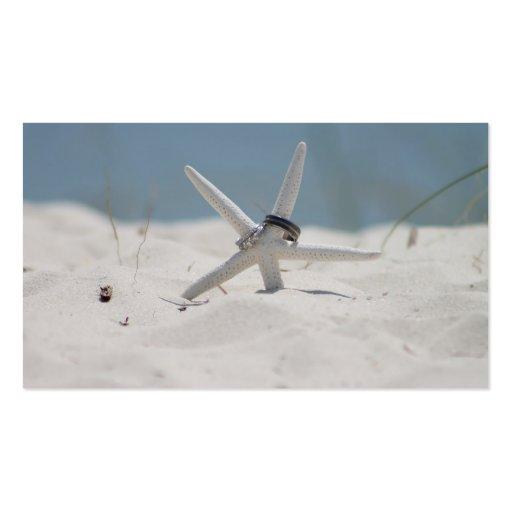 Beach Wedding Starfish Business Card