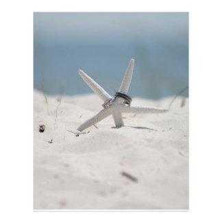 Beach Wedding Starfish Flyers