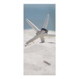 Beach Wedding Starfish Rack Card