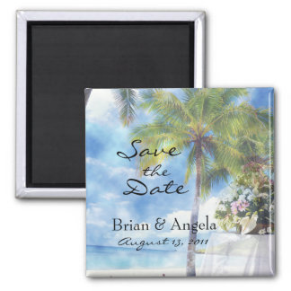 Beach Wedding STD Magnet
