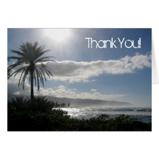 Beach Wedding Thank You Cards Palm Tree