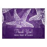 "Beach Wedding ""Thank you"" Starfish Purple"