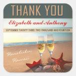 beach wedding thank you stickers