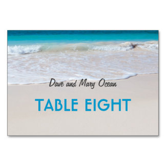 Beach Wedding Theme Escort Table Seating Cards Table Cards