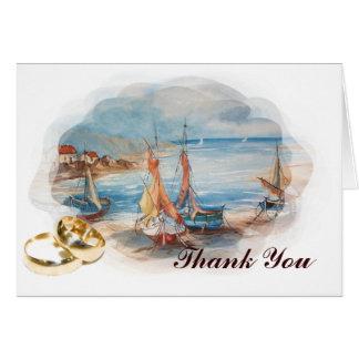 beach weddings greeting card