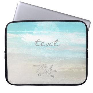 Beach White Starfish Elegant Summer Chic Tropical Laptop Sleeve