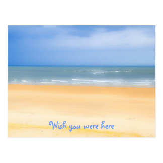 Beach Wish You Were Here Postcard