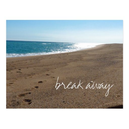 Beach with Break Away Quote Post Cards