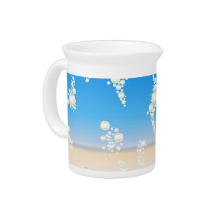 Beach with bubbles pitcher