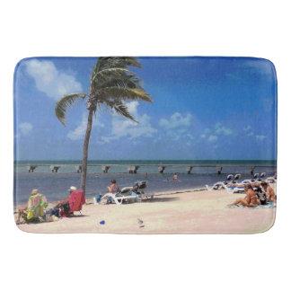 Beach with Coconut Palm Bath Mats