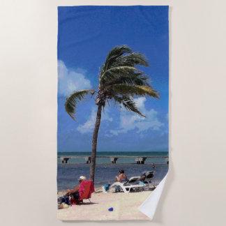 Beach with Coconut Palm Beach Towel