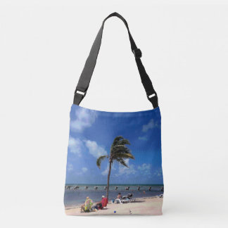 Beach with Coconut Palm Crossbody Bag