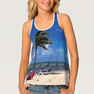 Beach with Coconut Palm Tank Top