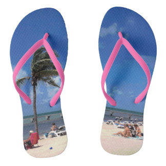 Beach with Coconut Palm Thongs