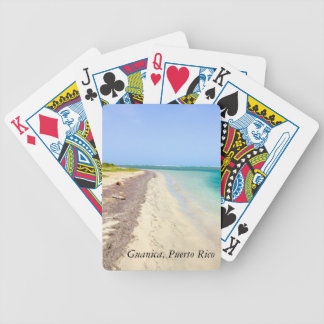 BEACH WITH GREEN BLUE LAGOON, GUANICA, PUERTO RICO BICYCLE PLAYING CARDS