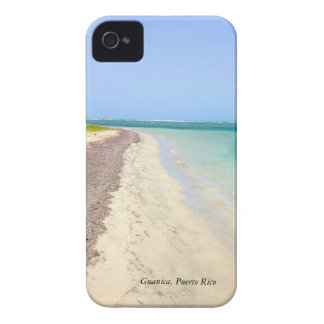 BEACH WITH GREEN BLUE LAGOON, GUANICA, PUERTO RICO iPhone 4 CASE