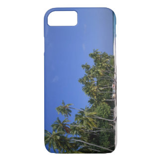 Beach with palm trees, Maldives iPhone 7 Case