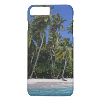 Beach with palm trees, Maldives iPhone 7 Plus Case