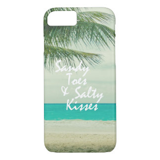 Beach with Quote iPhone 7 Case