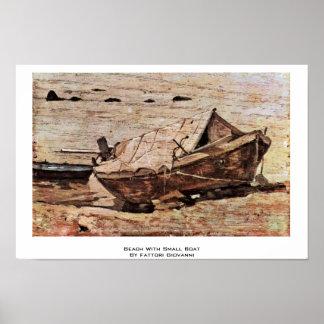 Beach With Small Boat By Fattori Giovanni Posters