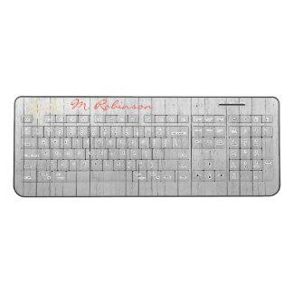 Beach Wood Starfish Personalized Wireless Keyboard