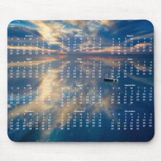 Beach Yearly Calendar 2015 Mousepad