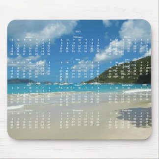 Beach Yearly Calendar 2015 Mousepads