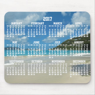 Beach Yearly Calendar 2017 Mouse Pads