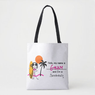 Beachaholic Surfer Tote Bag