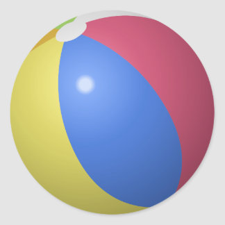 Beachball Blow up Ball Classic Round Sticker