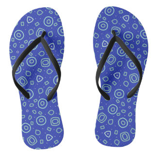Beachcomber shapes in blue thongs