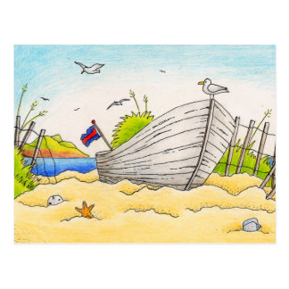 Beached Boat - Postcard