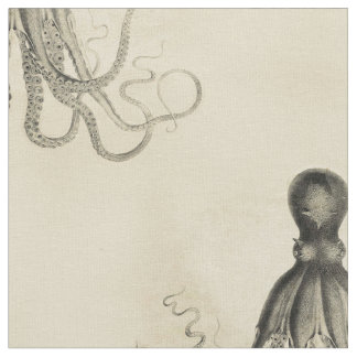 Beached Octopus Fabric