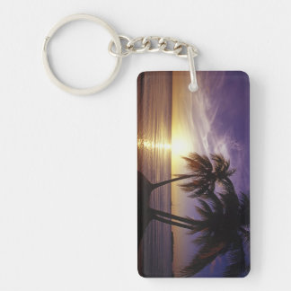 Beaches at Negril, Jamaica 3 Double-Sided Rectangular Acrylic Key Ring