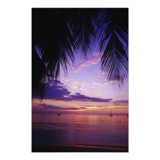 Beaches at Negril, Jamaica 3 Photographic Print