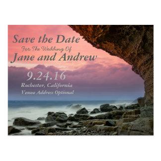 Beachfront Save the Date Invitation Postcard