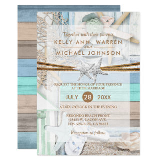 Beachfront Wedding Card