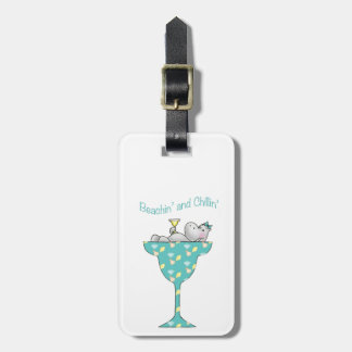 Beachin' and chillin' luggage tag