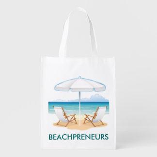 Beachpreneurs World Domination Shopping Bags