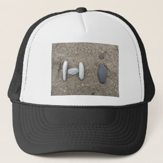 Beachy Art Sand Rock Hi Trucker Hat