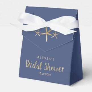 Beachy Bridal Shower Favor Box - Ocean, Starfish