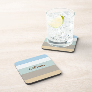 Beachy Colour Block Plastic coasters w/cork back