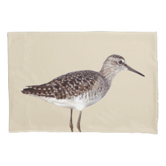 Beachy Sandpiper Bird & Sandy Beige Pillowcase