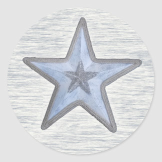 Beachy star on round sticker