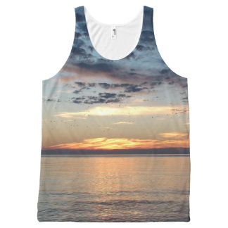 Beachy Sunset Printed Tank Top All-Over Print Tank Top